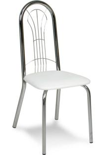 Cadeira Cromada Carmen Branca