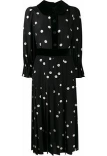 Dolce & Gabbana Vestido Com Estampa De Poás - Preto