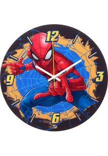 Relógio De Parede Analógico Homem Aranha®- Vermelho & Azmabruk