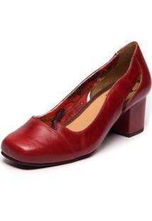 Sapato Mzq Vermelho Salto Médio - Amora / Brenda Lee 7317
