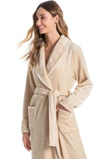 Robe Em Fleece Longo Pétala