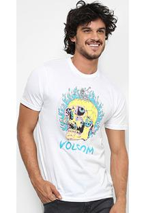 Camiseta Volcom Slim Shred Skull Masculina - Masculino