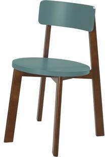 Cadeira Lina Cor Cacau Com Azul Claro - 35856