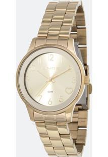 Kit Relógio Feminino Lince Lrgh098L-Kw42C2Kx Analógico 5Atm + Conjunto Semijóia