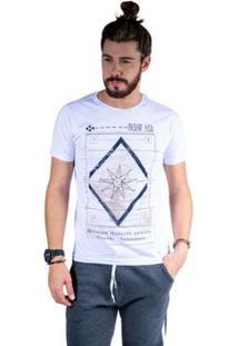 Camiseta Mister Fish Estampado Premium Quality Masculina - Masculino-Branco