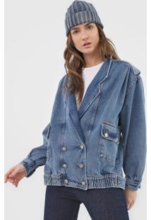 Jaqueta Jeans Colcci Bolsos Azul - Kanui