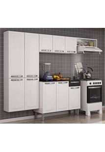 Cozinha Compacta-Rose-10 Portas-1 Gaveta-Branco/Preto-Itatiaia