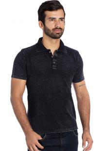 Camisa Polo Tricot Le Tisserand Black Stone
