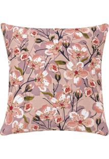 Capa De Almofada Colorida Estampada Rose Floral 45 X 45