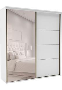 Guarda-Roupa Casal Com Espelho Eleganza 2 Pt 3 Gv Branco