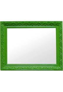 Espelho Charm Retangular Verde Em Mdf - Urban - 48X38 Cm