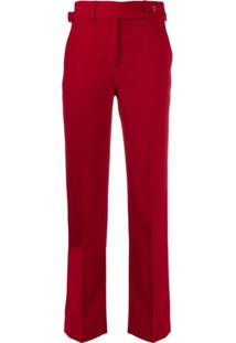 Redvalentino Buckled Slim Trousers - Vermelho