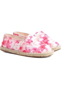 Alpargata Com Sisal- Pink & Brancashoestock