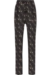 Figue Calça Alexa Com Estampa De Estrelas - Preto