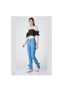 Calça Jeans Buy Style Reta Monalisa Azul