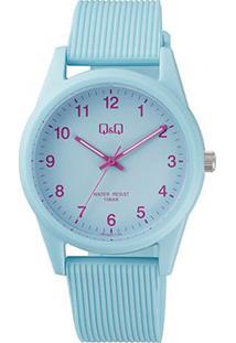 Relógio Qq De Pulso Analógico Vs12J011Y Feminino - Feminino-Azul Claro