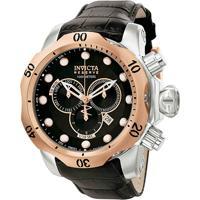 156b073e86f Relógio Invicta Subaqua Venom Analógico 0360 Masculino - Masculino-Salmão+ Prata