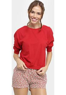 Conjunto Pijama Flora Zuu Curto Melancia Feminino - Feminino-Estampado