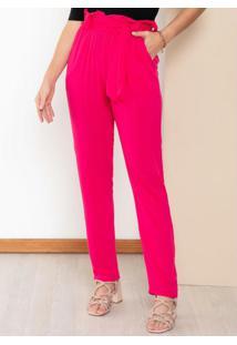 Calça Clochard Pink Com Bolsos Funcionais