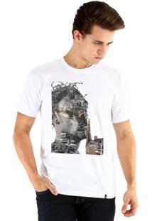Camiseta Ouroboros Manga Curta Sabotage Masculina - Masculino-Branco