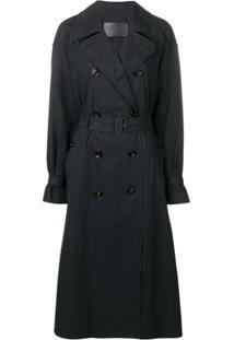 Bottega Veneta Trench Coat Clássico - Preto