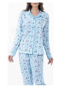 Pijama Longo Xadrez Unicórnios Laibel (15.011479) 100% Algodão