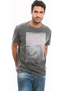 Camiseta Trissoni Mergulhador Cinza Estonada
