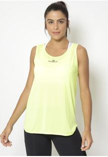 Regata Com Microfuros- Amarelo Neon- Physical Fitnesphysical Fitness
