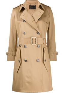 Givenchy Trench Coat Com Cinto - Neutro