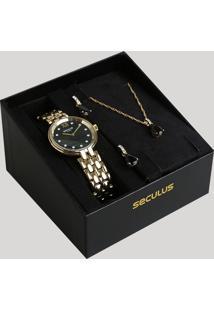 719b11f6649 CEA. Relógio Feminino Analógico Kit Seculus ...