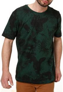Camiseta Manga Curta Masculina Local Verde
