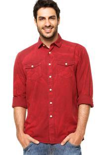 Camisa Triton Tricoline Jateada Vermelha