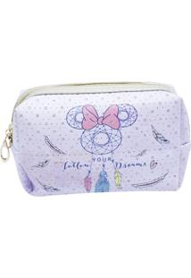 Necessaire Minas De Presentes Minnie Mandala Lilás
