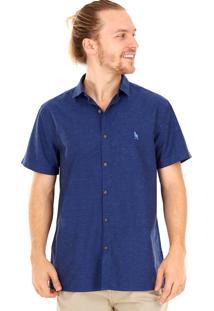 Camisa Side Walk Camisa Pingos Azul Marinho