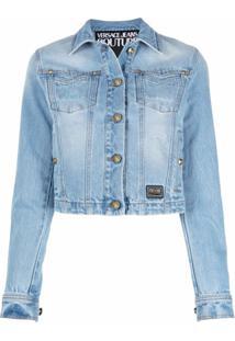 Versace Jeans Couture Jaqueta Jeans Com Logo Bordado - Azul