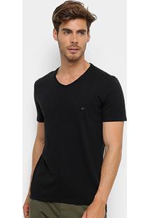 Camiseta Ellus Co Fine Gola V Masculina - Masculino