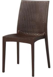 Cadeira Ibiza Polipropileno Cor Marrom - 29680 - Sun House