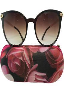 Óculos De Sol Jf Sun Donna-Marrom-Marrom Degradê - Kanui