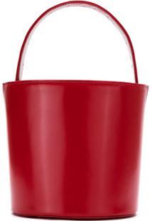 Sarah Chofakian Bolsa Bucket De Couro - Vermelho