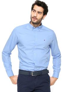 Camisa Tommy Hilfiger Regular Fit Lisa Azul