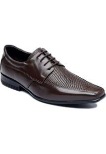 Sapato Social Com Cadarço Couro Ranster - Masculino