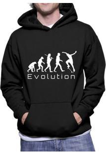 Moletom Criativa Urbana Skate Evolution - Masculino-Preto
