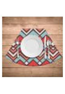 Jogo Americano Para Mesa Redonda Wevans Abstract Color Kit Com 6 Pçs