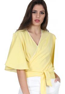 Blusa Romaria Kimono Amarela