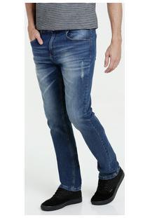 Calça Masculina Jeans Puídos Slim Marisa