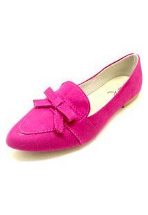Sapatilha Mocassim Nobuck Dani K Rosa Pink Flamingo