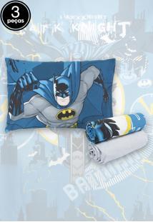 Jogo De Cama Infantil Lepper Kids Batman 3 Peças Azul