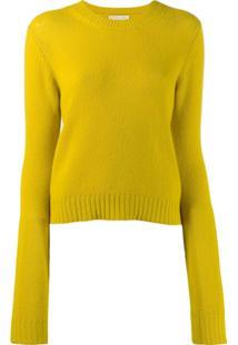 Bottega Veneta Suéter Gola Careca - Amarelo
