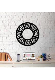 Escultura De Parede Wevans Mandala Rustic + Espelho Decorativo -