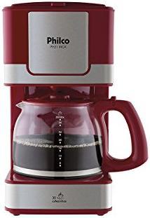 Cafeteira Ph31 Inox 220V 1,2L 800W Vermelha - Philco